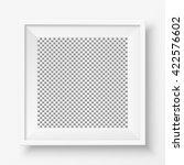 blank white frame hanging on... | Shutterstock .eps vector #422576602
