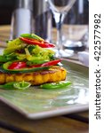Small photo of Sweet potato polenta with Asian vegetable fricassee