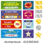 lottery tickets.  | Shutterstock .eps vector #422585365