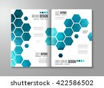 brochure template  flyer design ... | Shutterstock .eps vector #422586502