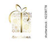 christmas present box made from ... | Shutterstock .eps vector #42258778