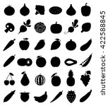 vector vegetables and fruits... | Shutterstock .eps vector #422588845
