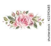 bouquet of flowers. watercolor... | Shutterstock . vector #422592685