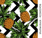 exotic seamless pattern with a... | Shutterstock .eps vector #422602456