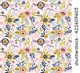 beautiful pattern in small...   Shutterstock .eps vector #422609605
