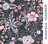 beautiful pattern in small... | Shutterstock .eps vector #422609635