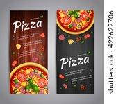realistic pizza pizzeria flyer... | Shutterstock .eps vector #422622706