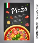 realistic pizza pizzeria flyer... | Shutterstock .eps vector #422622712