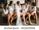 bride and her friends have a... | Shutterstock . vector #422625046