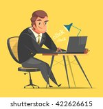 businessman working at his... | Shutterstock .eps vector #422626615