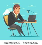 businessman working at his... | Shutterstock .eps vector #422626636