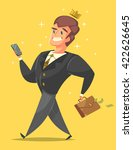 successful  happy businessman... | Shutterstock .eps vector #422626645