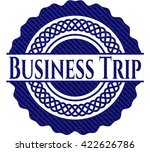 business trip badge with denim... | Shutterstock .eps vector #422626786