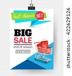 sale poster  paper design.... | Shutterstock .eps vector #422629126
