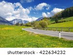 landscape in the alps in... | Shutterstock . vector #422634232