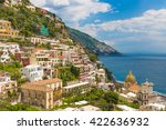 beautiful town of positano ... | Shutterstock . vector #422636932