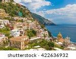 beautiful town of positano ...   Shutterstock . vector #422636932