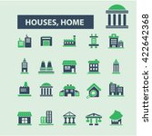 houses  home icons  | Shutterstock .eps vector #422642368