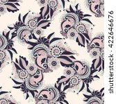 seamless floral pattern in... | Shutterstock .eps vector #422646676