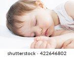 newborn baby sweet sleeping on... | Shutterstock . vector #422646802
