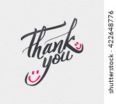 thank you   card  background ... | Shutterstock .eps vector #422648776
