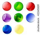 colored buttons | Shutterstock .eps vector #42265009