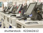 electronic cash or modern... | Shutterstock . vector #422662612