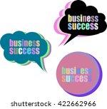 business success. set of... | Shutterstock .eps vector #422662966