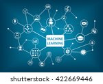 machine learning concept vector ... | Shutterstock .eps vector #422669446