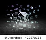 currency concept  glowing money ... | Shutterstock . vector #422670196