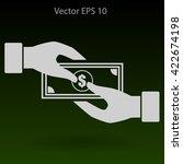 transfer money from hand to... | Shutterstock .eps vector #422674198