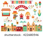 latin american holiday  the... | Shutterstock .eps vector #422680546