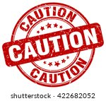 caution. stamp | Shutterstock .eps vector #422682052