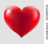 red heart with isolated... | Shutterstock . vector #422685532