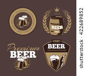 beer icons  labels  signs for... | Shutterstock .eps vector #422689852