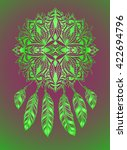 lacy dreamcatcher as an ethnic... | Shutterstock .eps vector #422694796