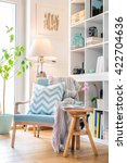 cozy reading corner with... | Shutterstock . vector #422704636
