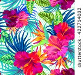 vector pattern with tropical... | Shutterstock .eps vector #422714032