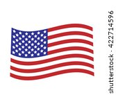 vector image of american flag | Shutterstock .eps vector #422714596