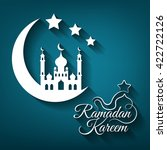 greeting card for islamic holy... | Shutterstock . vector #422722126