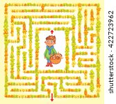 help the boy find a way out of... | Shutterstock .eps vector #422723962
