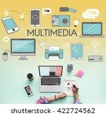 multimedia communication... | Shutterstock . vector #422724562