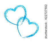 couple of blue hearts outline... | Shutterstock .eps vector #422727502