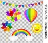 color kids set  isolated on... | Shutterstock .eps vector #422728516