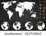 world  map infographic template ... | Shutterstock .eps vector #422729842