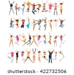 jumping together united... | Shutterstock . vector #422732506