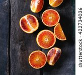 Sliced Sicilian Blood Oranges...