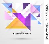 geometric vector background.... | Shutterstock .eps vector #422735866
