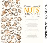 vector background with nuts... | Shutterstock .eps vector #422738776