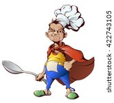 character   a cook with a huge... | Shutterstock .eps vector #422743105
